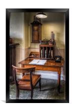 Victorian Office, Framed Print