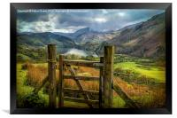 Valley Gate, Framed Print