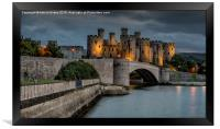 Conwy Castle by Lamplight, Framed Print