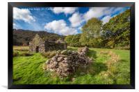 Welsh Cottage Ruin, Framed Print