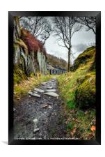 Quarry Barracks Snowdonia, Framed Print