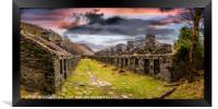 Quarry Sunset Snowdonia, Framed Print