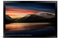 Lake Sunset Snowdonia, Framed Print