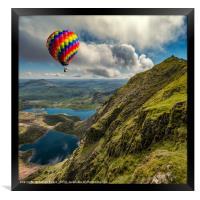 Snowdon Hot Air Balloon, Framed Print