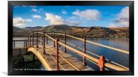 Padarn Lake Footbridge, Framed Print