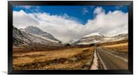 Mountain Highway Snowdonia, Framed Print