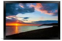 Sunset Seascape Wales, Framed Print