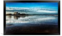 Brancaster beach and golf club, Framed Print