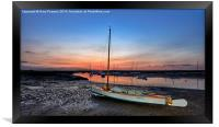 After the sunset Brancaster Staithe, Framed Print