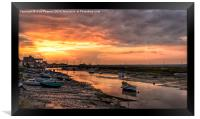 Sunset over the old granary, Framed Print