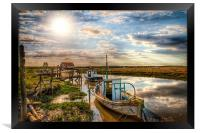 A perfect day at Thornham, Framed Print