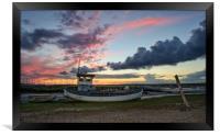 Colours of sunset - Brancaster Staithe , Framed Print