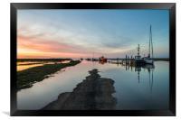 Sunset over Thornham harbour, Framed Print
