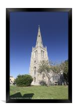 Church tower in Thaxted, Framed Print