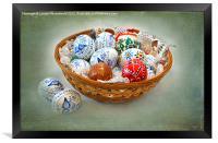 Basket of Easter Eggs, Framed Print