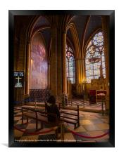 Interior of Notre Dame Cathedral, Paris, Framed Print