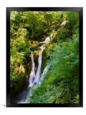 Stock Ghyll Force, Ambleside, Lake District, Cumbr, Framed Print