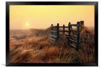 Moorland sunrise, Framed Print