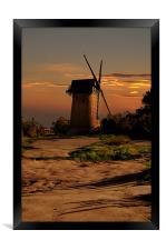 Bidston hill windmill, Framed Print