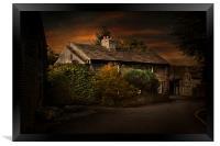 A cottage in Castleton, Framed Print