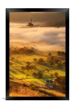 Golden mists over castleton 2, Framed Print