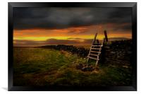 The stile, Framed Print