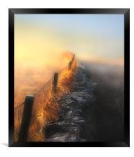 Moorland mists, Framed Print