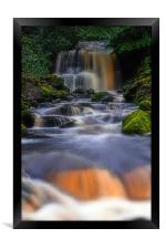 Rivington waterfall, Framed Print