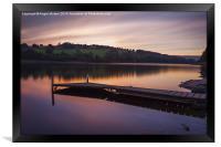 Damflask Reservoir Sunset, Framed Print