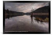 Upper Derwent Reservoir Reflections, Framed Print