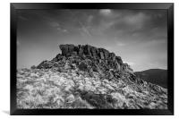 Crook Hill Summit, Framed Print