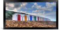 Woolacombe  Beach Huts, Framed Print