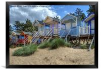 Beach Huts Wells, Framed Print