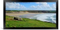 Crantock beach, Framed Print