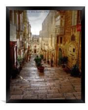 Valletta Street, Framed Print