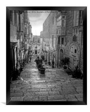 Valletta Street Malta, Framed Print