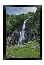 Aber Falls Snowdonia , Framed Print