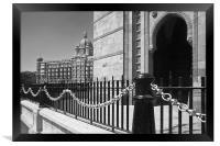The Taj and The India Gateway, Framed Print