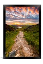 Sunset Over Ladybower Reservoir, Framed Print