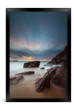 Lust Glaze Cove at Sunset - Long Exposure, Framed Print