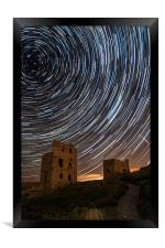 Perseids Over Wheal Coates, Framed Print