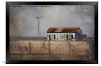 Homestead in Dust Storm, Framed Print