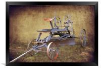Antique Road Grader, Framed Print
