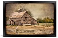 Weathered Barn, Framed Print
