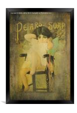 Pear Soap Girl, Framed Print