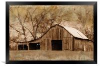 American West Barn, Framed Print