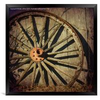 Old West Wagon Wheel, Framed Print