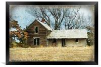 Old Abandoned Farm House, Framed Print