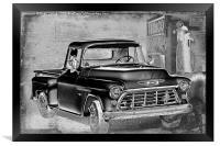Classic Chevrolet Pickup, Framed Print