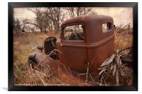 Where Old Trucks Go To Die, Framed Print